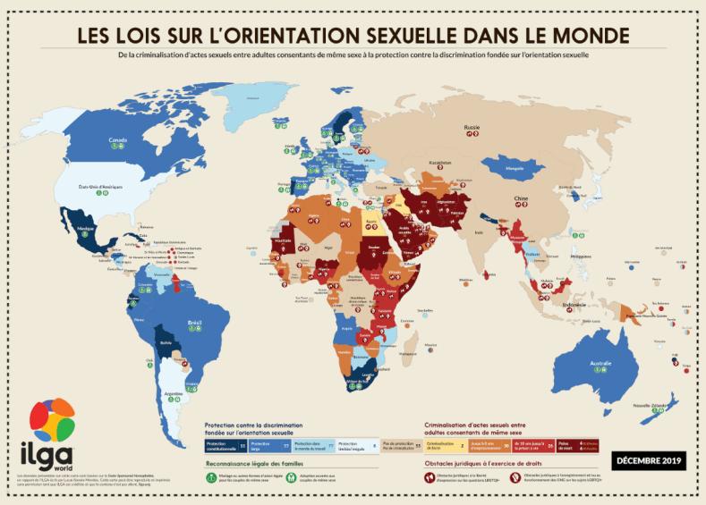 Les Lois sur l'orientation sexuelle dans le monde - ILGA WORLD