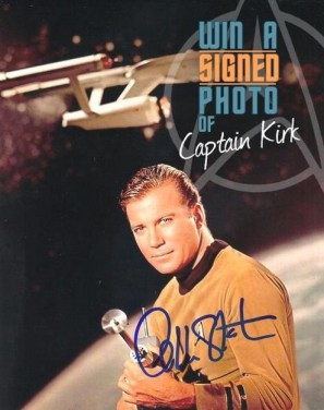 Win signed Shatner photo
