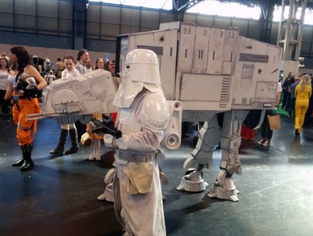 2 guys (or girls) dressed as an AT-AT