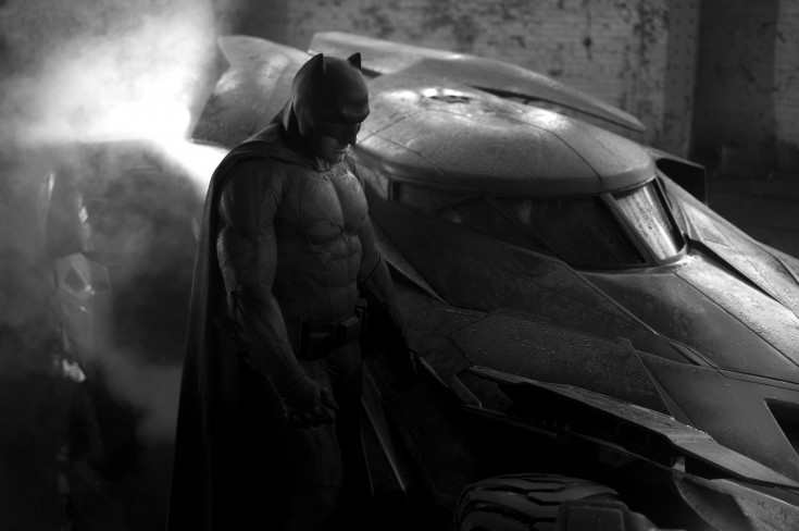 Ben Affleck as Batman and the new Batmobile!