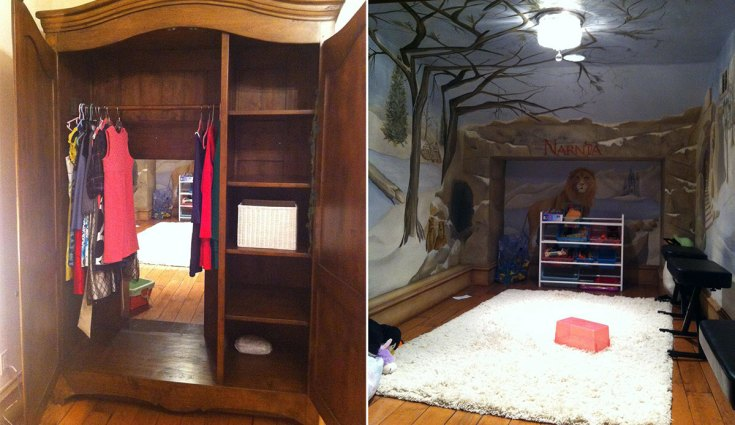 Narnia inspired bedroom