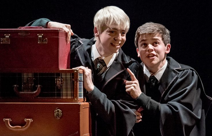 Anthony Boyle and Sam Clemmett as Scorpius Malfoy and Albus Potter - photo credit Manuel Harlan