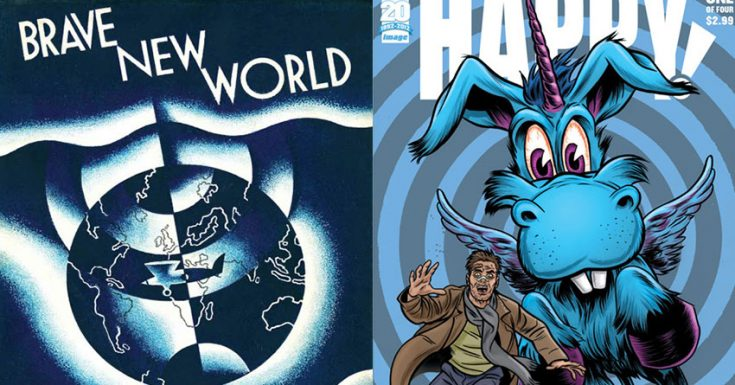 Grant Morrison & Brian Taylor Adapting Aldous Huxley's Brave New World & Graphic Novel Happy!