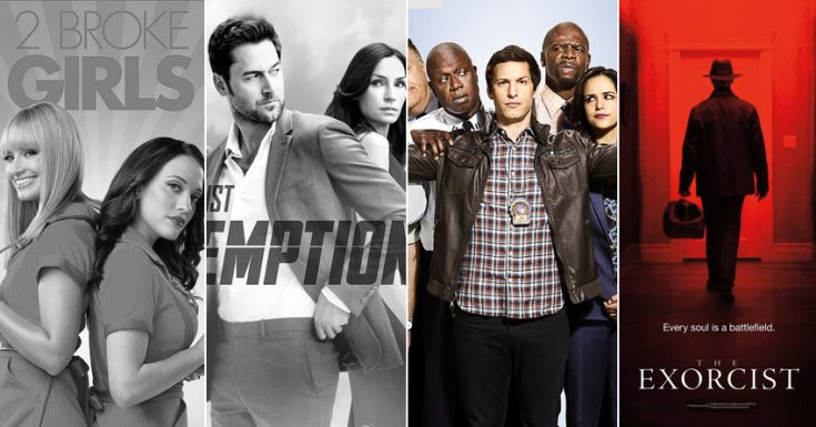 '2 Broke Girls', 'The Blacklist: Redemption', 'The Catch' Canceled. 'Brooklyn Nine-Nine', 'The Exorcist' Renewed.