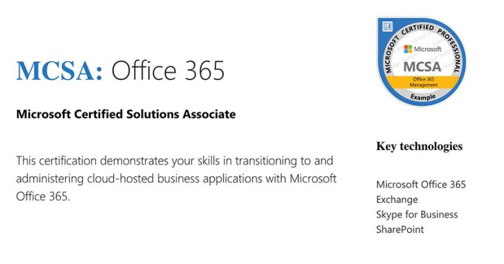MCSA Office 365: Reasons for Getting Certified. 70-346 & 70-347 Exams