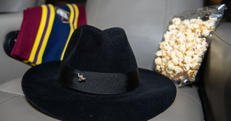 Terry Pratchett's hat and scarf