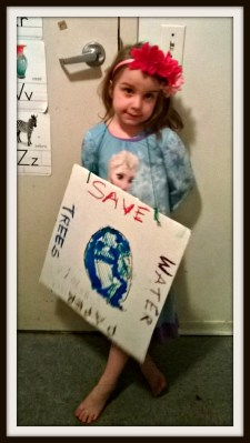 POD: Violet's Earthday Sign