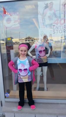 POD: Violet Models her outfit