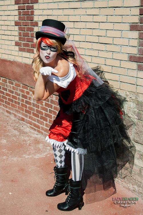 Steampunk Victorian Harley Quinn Cosplay