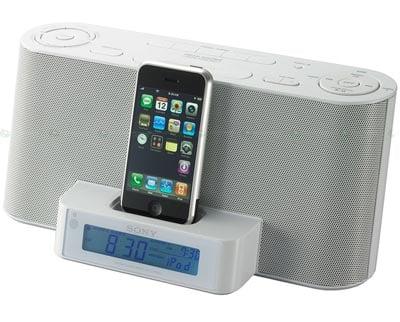 Sony S New Iphone Alarm Clock Dock