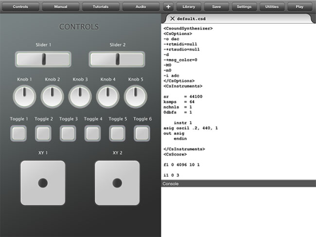 Csound Touch iPad App