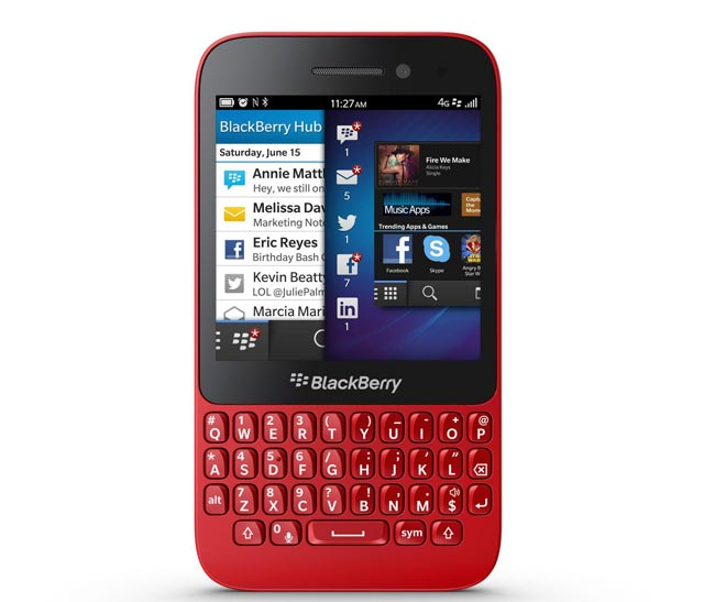 Red BlackBerry Q5