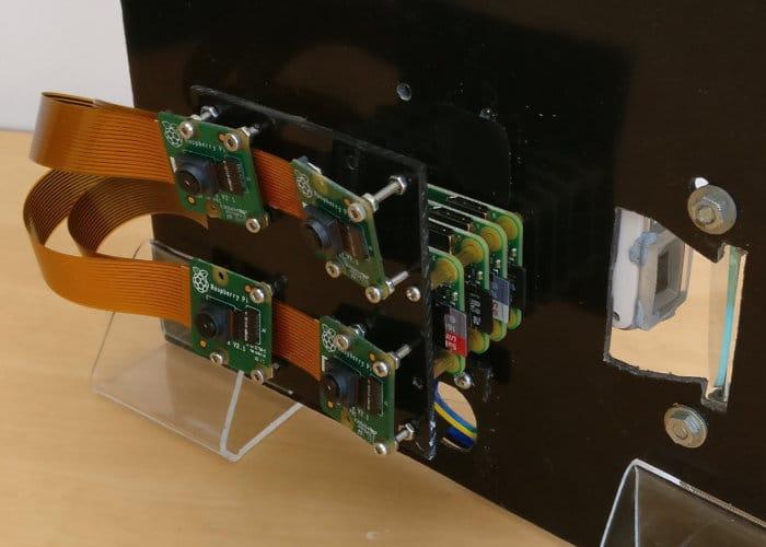 3D Scanner Created Using 4 Raspberry Pi Zero Mini PCs
