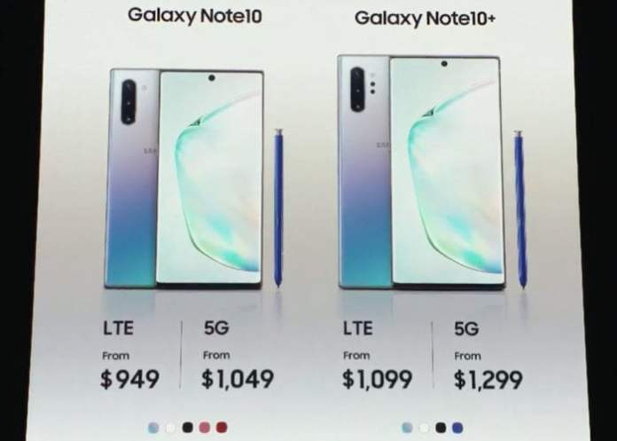 Galaxy Note 10 Plus 5g Pricing Geeky Gadgets