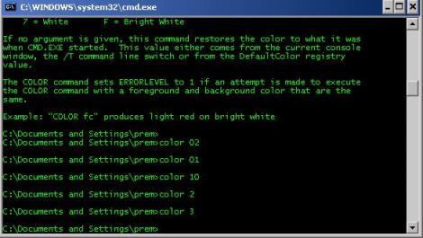 color, command prompt