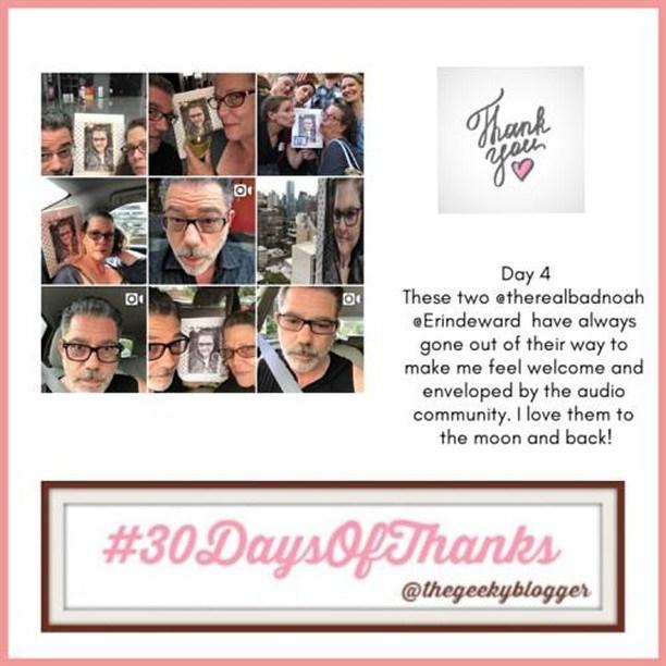 #Day4 #30DaysOfThanks #BookGram @therealbadnoah @Erindeward