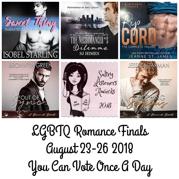 #SultryListeners 2018 LGBTQ Romance Finals #LoveAudiobooks @MLSimmons