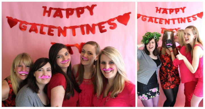Galentine Photo Booth Collage