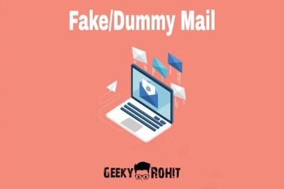 dummy mail ya fake mail id kaise banaye