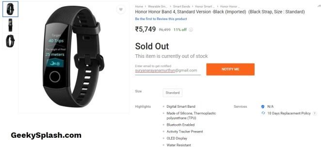 Honor-Band-4-Listed-on-Flipkart-India