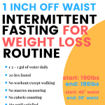 intermittent fasting for weight loss routine