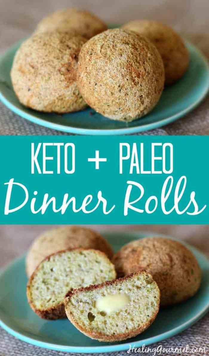 Keto + Paleo Dinner Roles by Healing Gourmet   Image source: HealingGourmet.com