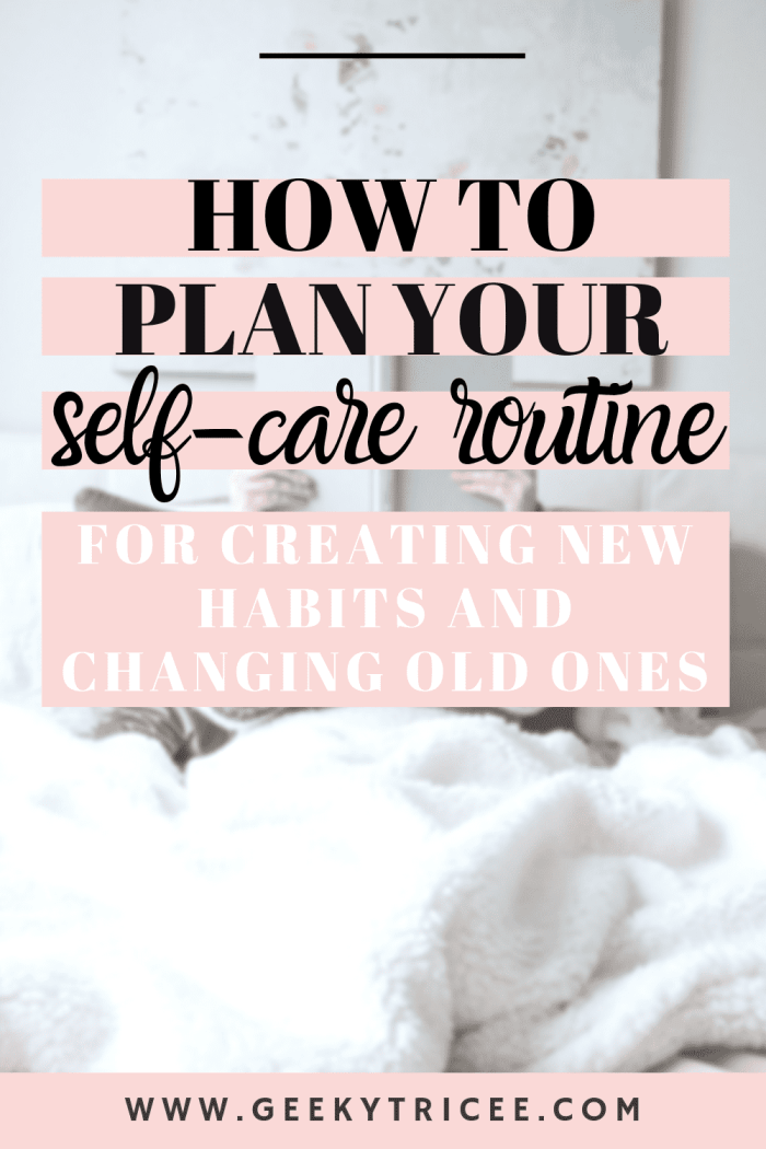 How to plan your self-care routine