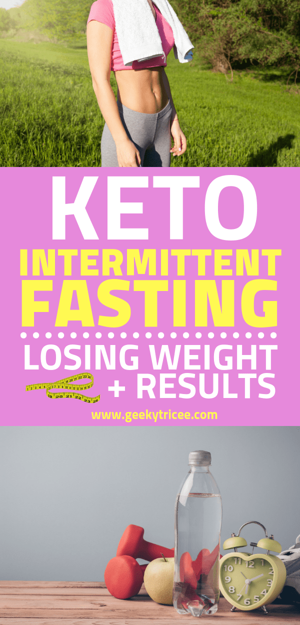 Keto Intermittent Fasting + Losing Weight + Results pin