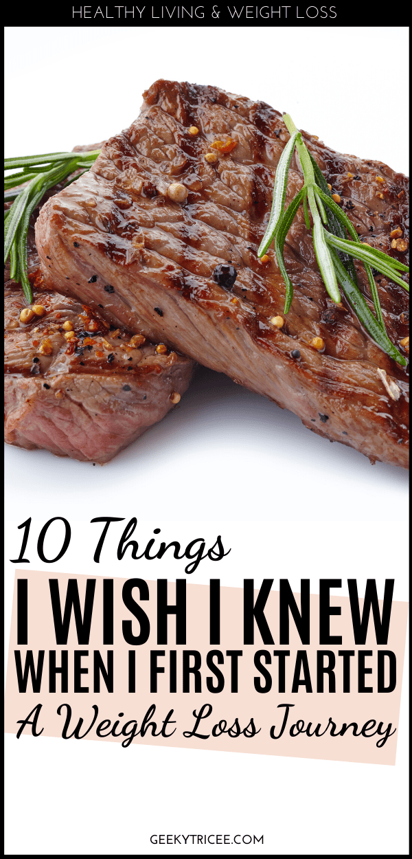 10 things I wish I knew before starting a weight loss journey pin