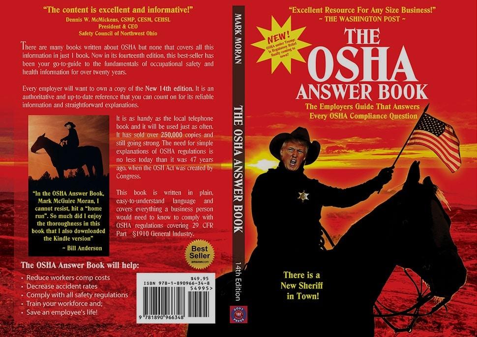 Book cover design for the Osha Answer Book
