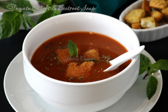 Tomato Carrot & Beetroot Soup