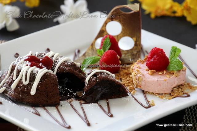 Chili Chocolate Molten Lava Cake   Geeta s Cuisine