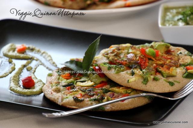 Veggie Quinoa Uttapam