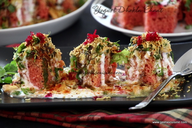Yogurt Dhokla Chaat