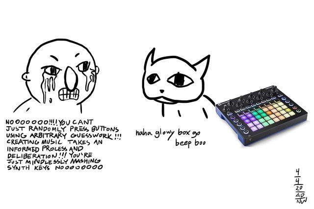 Music theory, vs enjoying making music. Glowy box go beep boo!