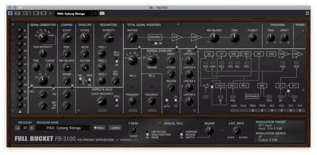 Full Bucket Music FB-3100 - a Korg PS-3100 VST for free