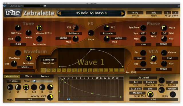Zebralette is a single-oscillator version of Zebra - it's free
