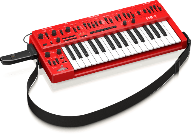 Behringer MS-1 with mod grip and strap