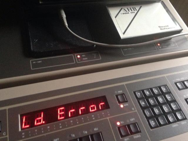 Tape Load Error on AHB Inpulse One
