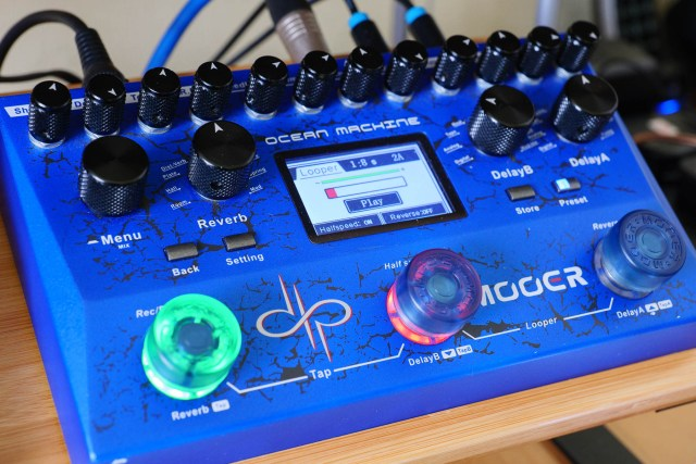 A quick, easy and flexible looper is part of the Ocean Machine's immersive sound creation system