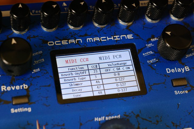 All that lovely exterior design - then those fonts. Why? Ocean Machine has a list of MIDI CC#s to save hunting for the manual when automating