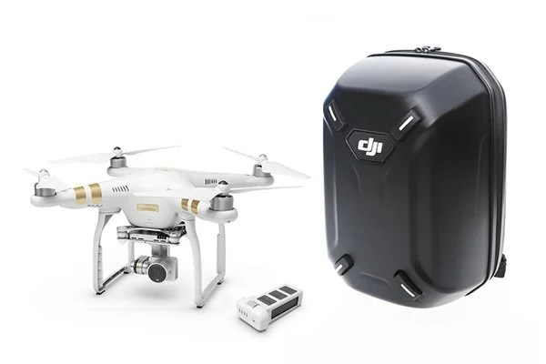 The kit: Phantom 3 Professional and hardshell backpack