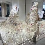 GM屋嘉部正人が、「そごう千葉店 ジュンヌ – リニューアルオープンイベント」として、「紙コップのインスタレーション」を行いました。
