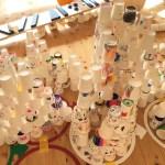 GM屋嘉部正人がふくろうの森保育園(鴻巣市)にて「紙コップのインスタレーション」を行いました。