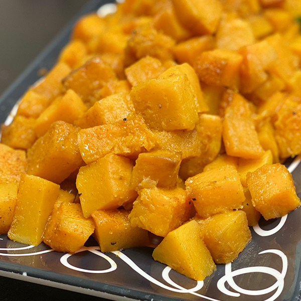 Honey Cinnamon Chipotle Roasted Butternut Squash