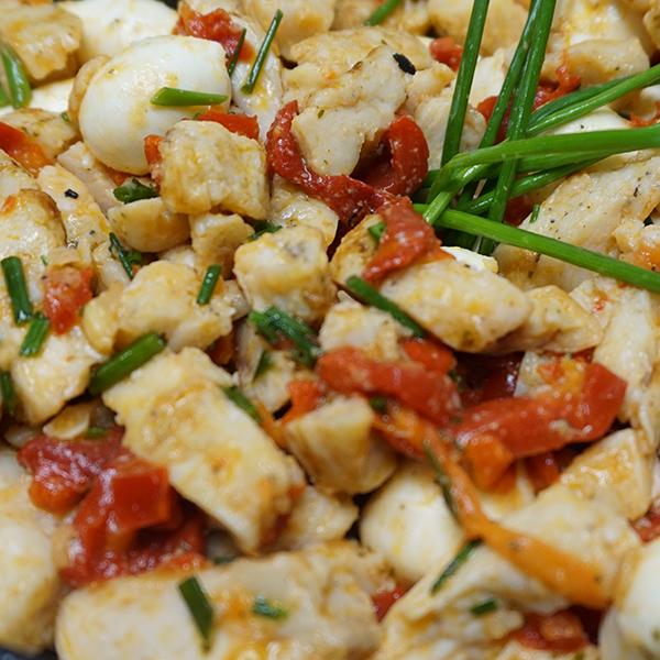 Fresh Basil Mozzarella Chicken Salad