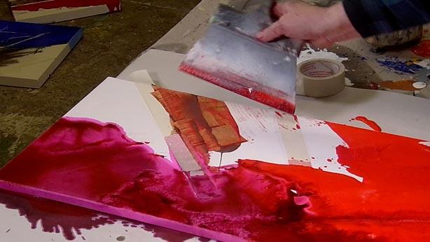Acrylmalerei Bluten Spachteln Fur Anfanger Acrylic Spackling