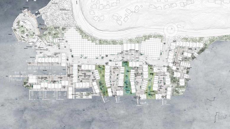 BRYGGEBYEN: Det tradisjonsrike industriområdet blir forvandlet til et boligområde med plass til minst 2.000 innbyggere over de neste to tiårene. Illustrasjon: fra planen