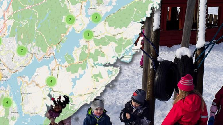 FORELDRENE HAR SVART: Kommunal barnehage på Tromøy gjorde det best i foreldreundersøkelsen i fjor, viser tall fra Utdanningsdirektoratet. Fotomontasje