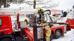 BRANNUTRYKNING: Østre Agder Brannvesen rykket ut på automatisk brannalarm på Sandnes skole mandag. Det var røykutvikling på et av skolens toaletter. Illustrasjonsfoto